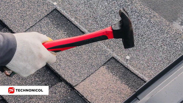 Roofing shingles installation